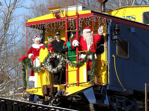 Santa Train Newaygo amtrak russ creative commons flickr