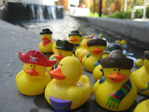 Little Duckies protest the Citizens United Supreme Court Decision