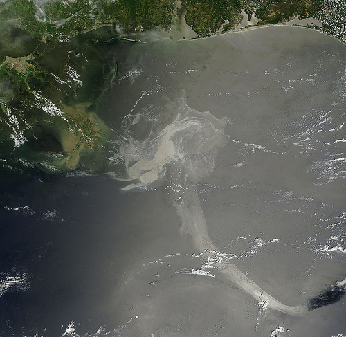 Oil Slick in the Gulf of Mexico May 17th View by NASA Goddard Photo and Video flickr creative commons