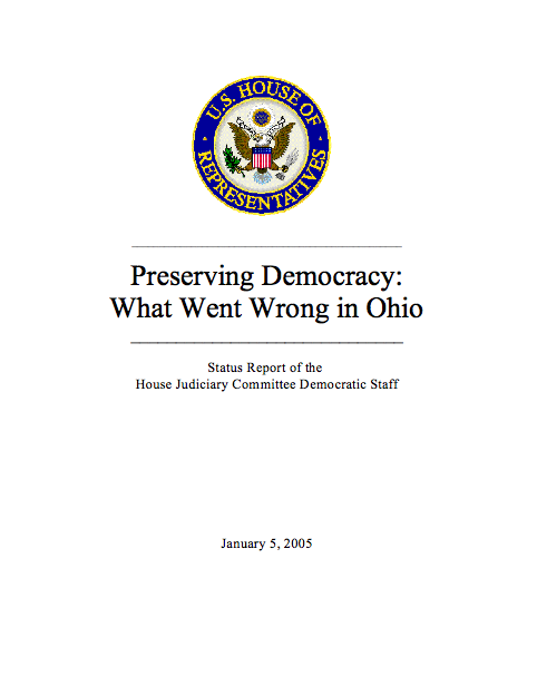Preserving Democracy - What Went Wrong in Ohio